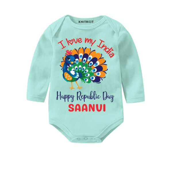 I Love My India Personalized Onesie - Pesonalised Baby Oneise