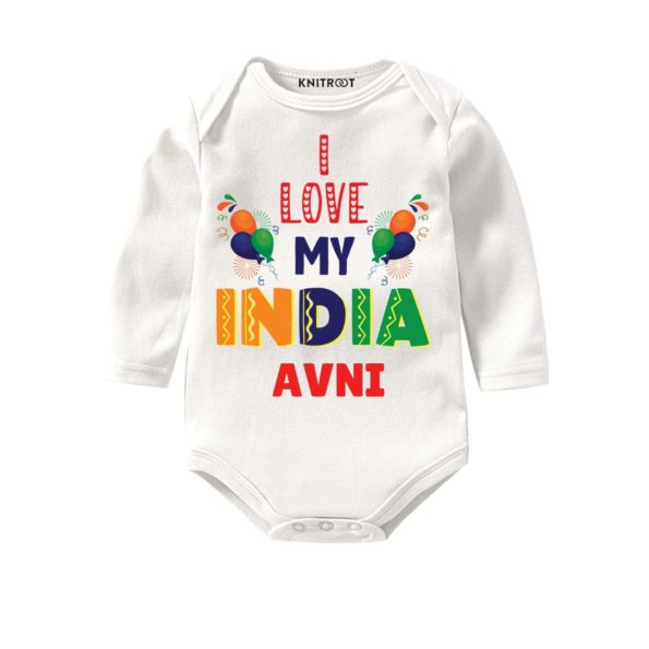 I Love My India Stated Wear - Pesonalised Baby Oneise