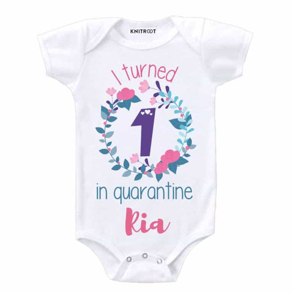 I turned 1 in Quarantine 2 - Personalised Baby Onesie
