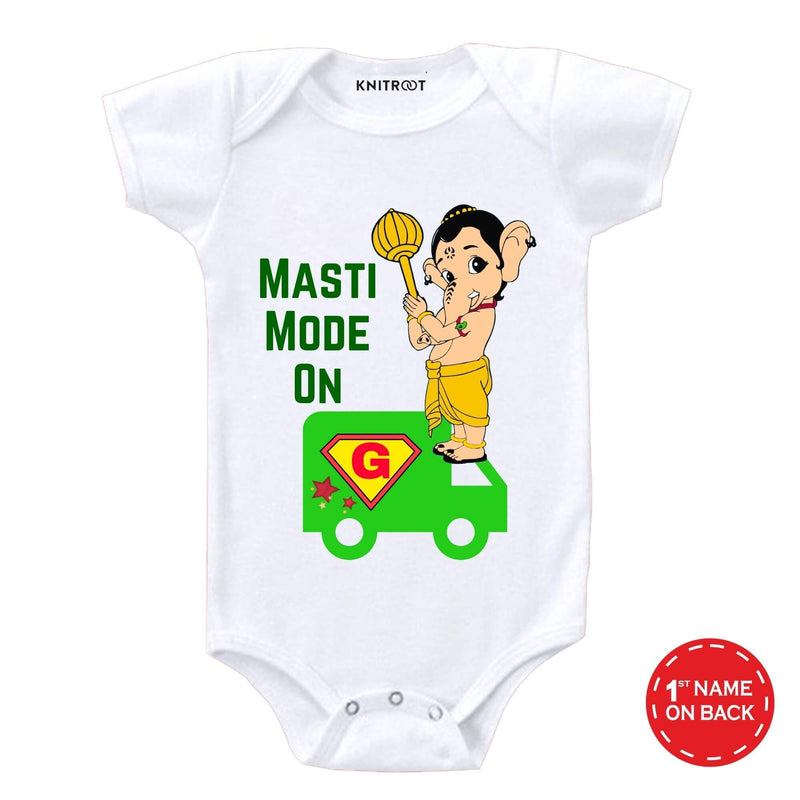 Masti Mode on with Bappa | Personalised Baby Onesie