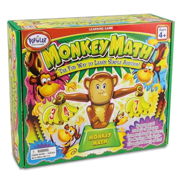 Monkey Math | Preschoolers Age 4 Years+