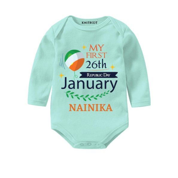 My First 26th January Outfit | Pesonalised Baby Oneise