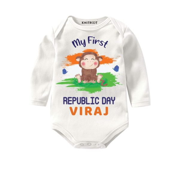 My First Republic Day Baby Outfit | Pesonalised Baby Oneise