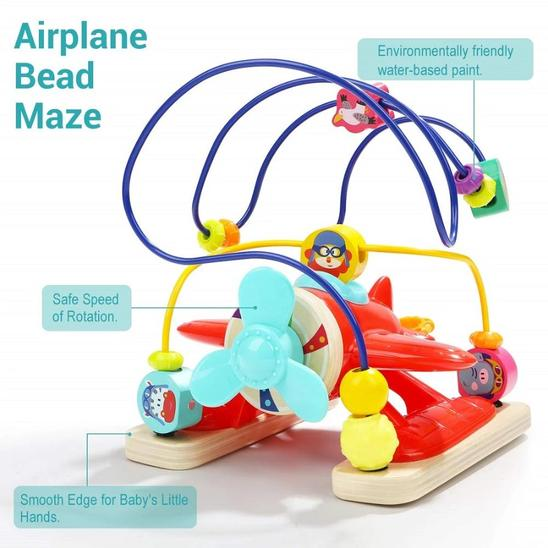 My Fist Plane Bead Maze - Age -1+ Years