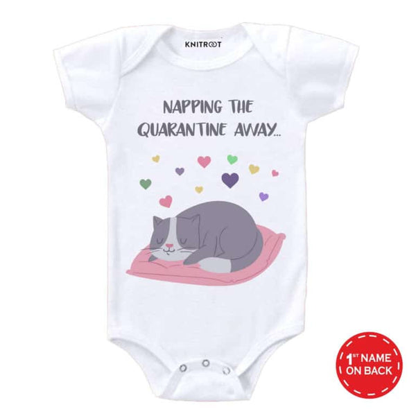 Napping the Quarantine Way | Personalised Baby Onesie