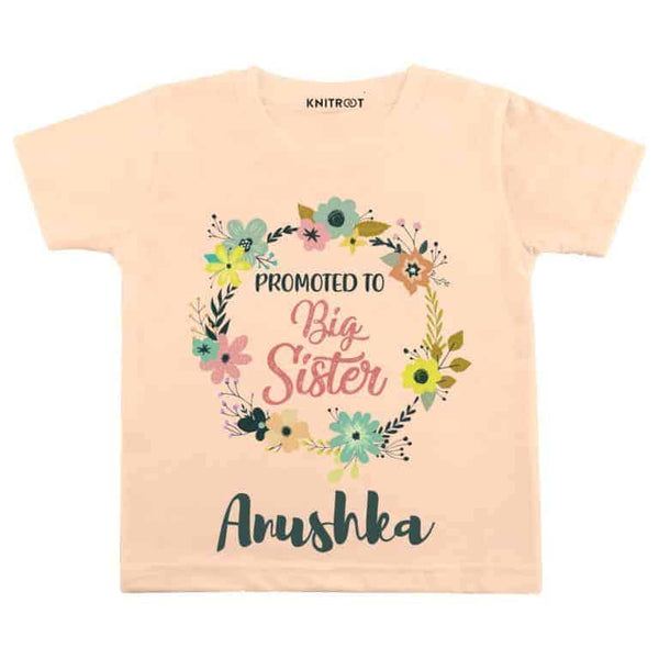 Big Sister Flower - Personalised Tshirt