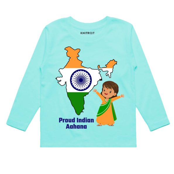 Proud Indian Baby Girl Outfit | Personalised Tshirt