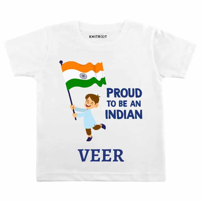 Proud To Be Indian Boy Outift | Personalised Tshirt