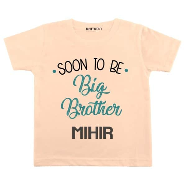 Soon to be big brother | Personalised Tshirt