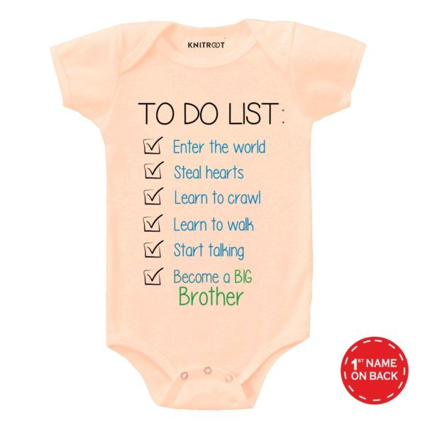 To Do List | Personalised Baby Onesie