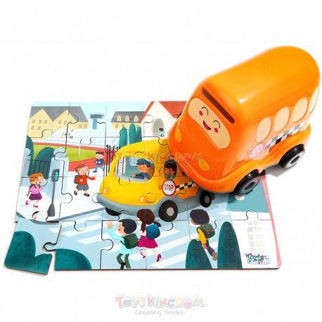Wooden Puzzles in School Bus | Age -3+ Years