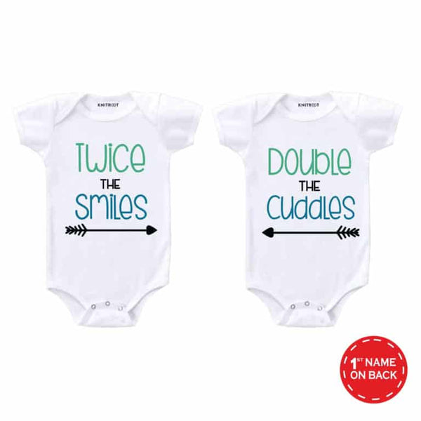 Twice and double baby romper | Personalised Baby Onesie