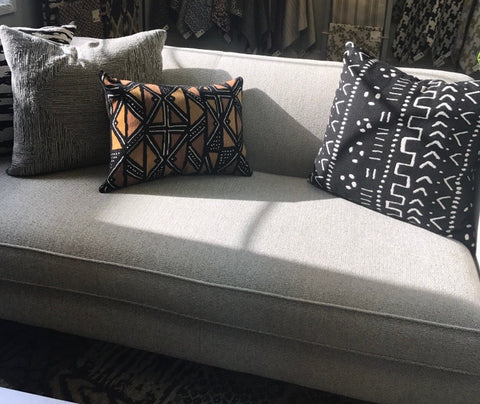 Brentwood Textiles on couch