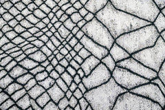 Fishnet Charcoal Floor cloth brentwood textiles