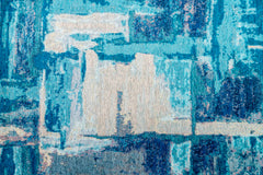 jazzy teal Floor cloth brentwood textiles