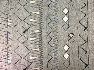 Brentwood Textiles Biscay graphite Floor Cloth