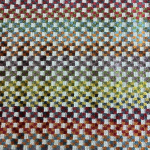 multicolor velvet upholstery fabric