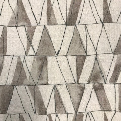 Pen and Ink | Modern Geometric Upholstery Print