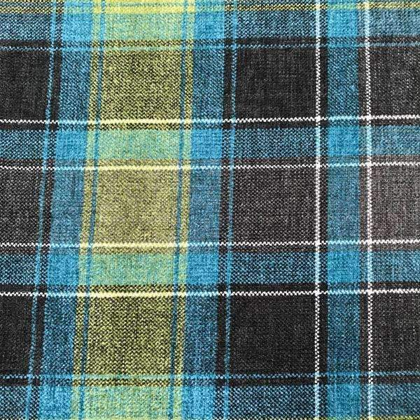 plaid Chenille Fabric