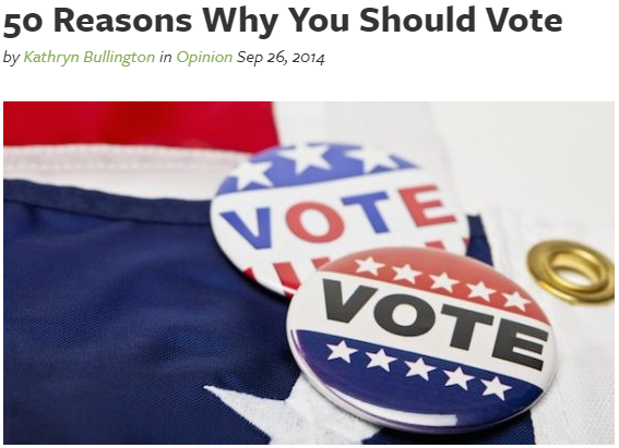 Reasons why if you can you SHOULD vote