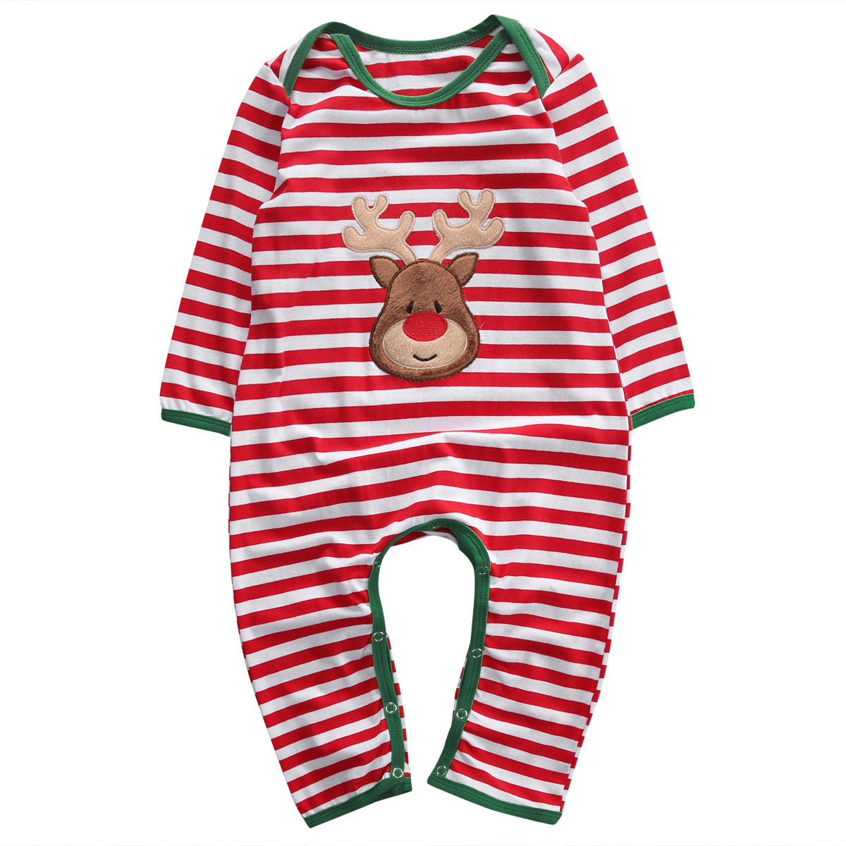 NEW Christmas Newborn Infant Baby Girl Boy Striped Deer Romper Jumpsuit Clothes