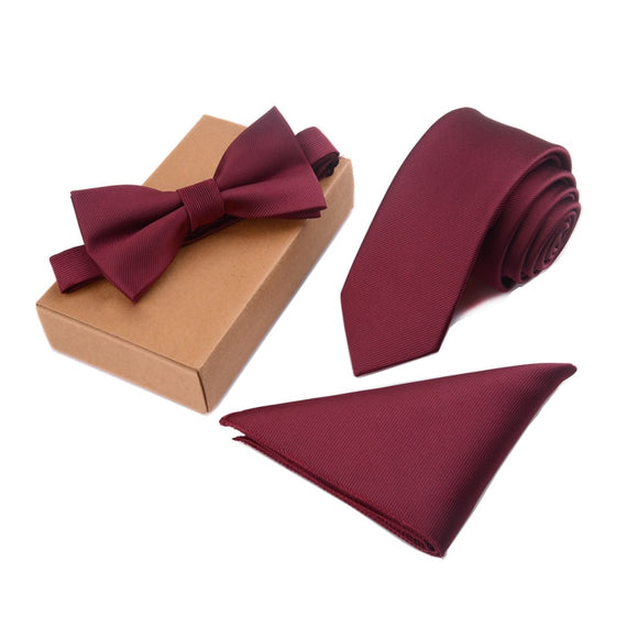 Tie, Bow Tie and Pocket Square Set