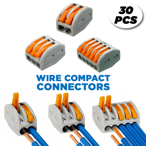 Wire Compact Connectors (30 PCS)