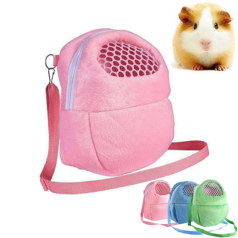 Guinea Pig Cages Carry Pouch Bag Breathable Small Pet Chinchilla Cage