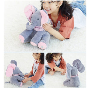 Peekaboo Elephant Plush Music Toy Christmas Gifts For Kids Children