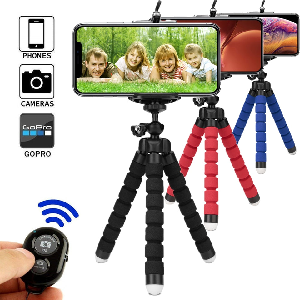 Phone Tripod With Bluetooth Remote Control For Smart Phone iPhone