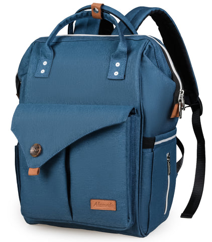 Alameda Diaper Bag Backpack - Shining Reflective Design, Blue