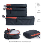 Packing Cube Set of 3 for Travel, Compression Bags Organizer for Luggage / Backpack, Deep Grey