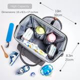 Alameda Diaper Bag Backpack - Shining Reflective Design