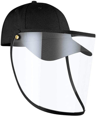 Baseball Cap with Protective Face Mask Full Face Shield Safety Hat