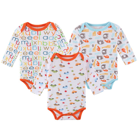 Mother Nest Baby Boys' 5-Pack Long-Sleeve Bodysuit
