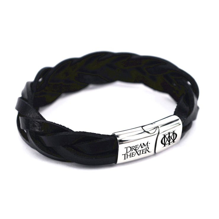 Dream Theater Braided Leather Wristband-Dream Theater