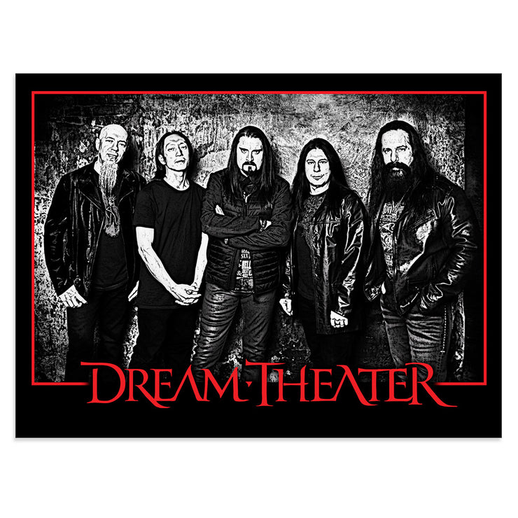 Band Photo Red And Black Poster-Dream Theater