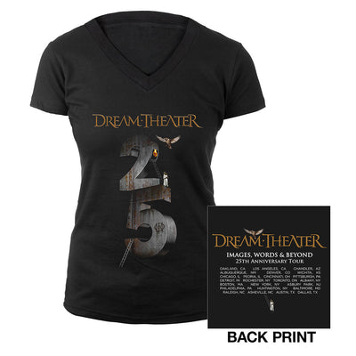 Women's Images and Words 25th Anniversary US Tour Tee-Dream Theater