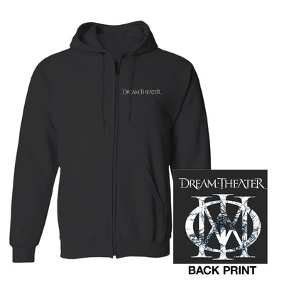 Distressed Majesty Symbol Zip Hoodie-Dream Theater