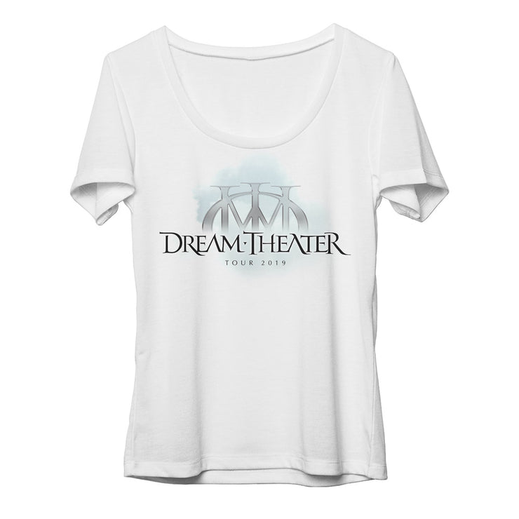 Women's Majesty Logo North American Tour 2019 Scoop Neck Tee-Dream Theater