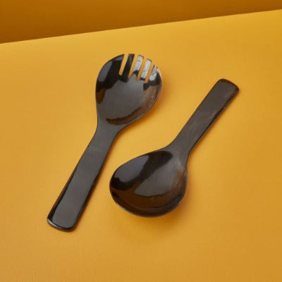 Black Horn Serving Set Extra Large