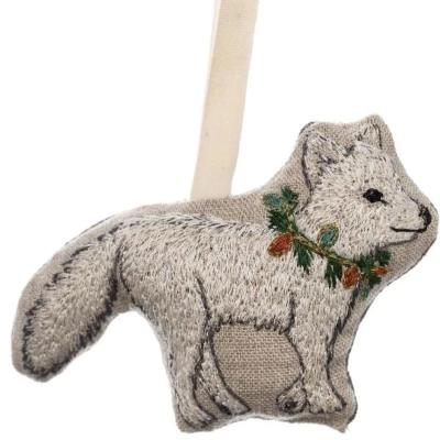 Christmas Fox Ornament