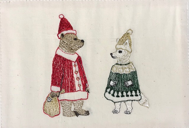 Claus Crew Embroidered Card
