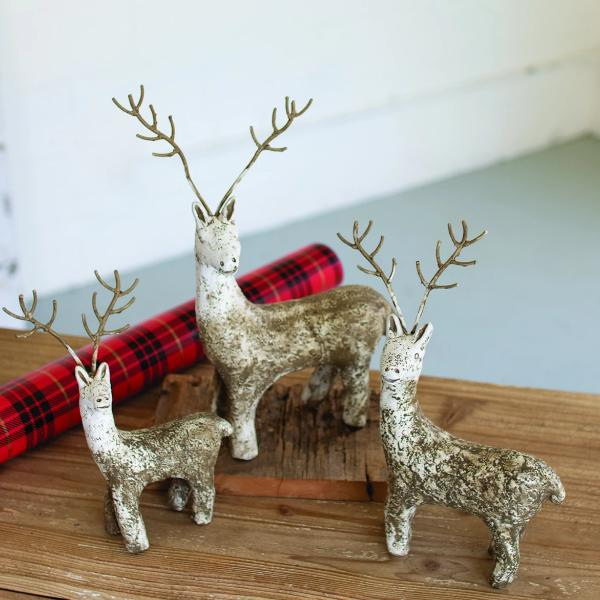 Clay Reindeer with Wire Antlers
