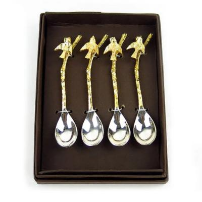 Gold & Silver Spoon w/ Bird