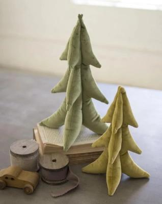 Gold and Green Velvet Christmas Trees