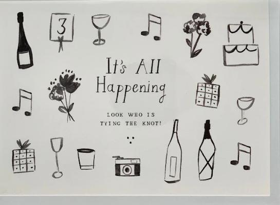 Wedding Card - It's All Happening