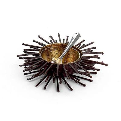 Iron & Gold Leaf Small Sea Urchin