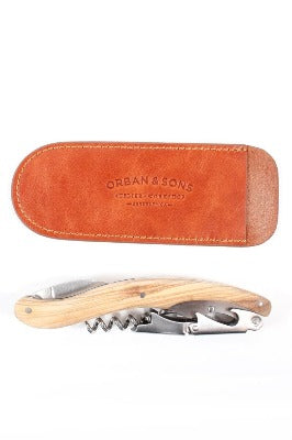 Orban & Sons Large Corkscrew with Leather Pouch