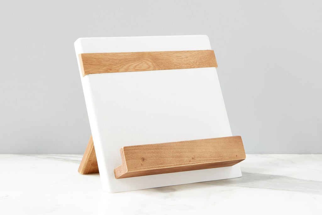 etuHome-White Mod iPad Cookbook Holder